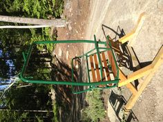 Retired ski lift chair.