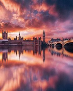 """Earth Pics on Twitter: """"Pink skies over London  Jacob Riglin… """""""