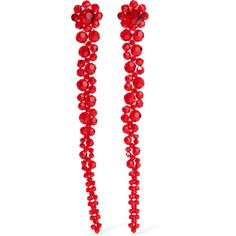 Simone Rocha Crystal earrings (1.035 RON) ❤ liked on Polyvore featuring jewelry, earrings, dot jewelry, crystal jewellery, red crystal jewelry, polka dot jewelry and crystal earrings
