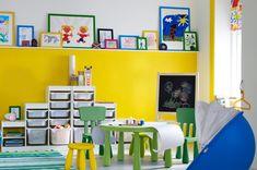 Budget playroom/schoolroom.