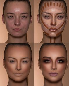How To Do Make-up – Step By Step Ideas For The Good Look Spotlight contour hypnaughty.make-up samer khouzami mild pores and skin Makeup Contouring, Contouring And Highlighting, Skin Makeup, Makeup Cosmetics, Contour Makeup Products, Makeup Eyeshadow, Highlight Contour Makeup, Drugstore Makeup, Contouring For Beginners