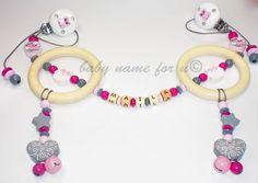 """Kinderwagenkette """"Eule"""" mit Wunschname von baby name for u auf DaWanda.com"""