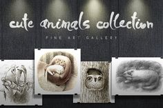 Cute Animals Collection by mazhuzha on @creativemarket