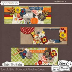 Project 2014 October: Bountiful Life - Facebook Timeline Covers :: Gotta Pixel Digital Scrapbook Store from Designs by Connie Prince