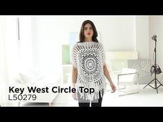 Free Crochet Pattern L50279 Key West Circle Top : Lion Brand Yarn Company