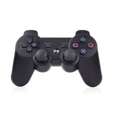 Wireless Dual Shock 3 Six Axis Controller Joystick with Vibration for PS3- Black. Wired Dual Shock controller for Playstation 3, Comfortable somatology design. It has four LED display channel ports.