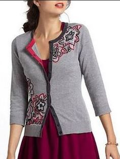Episode: Dead to Rights What: Embroidered Azalea Cardigan Who: Anthropologie Price: Unknown/No Longer Available