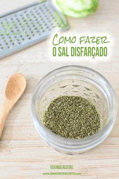 Como fazer Sal de Ervas para reduzir o sódio - Emagrecer Certo