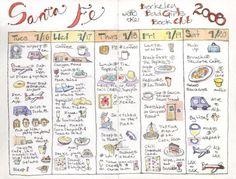 girls weekend getaway illustrated calendar