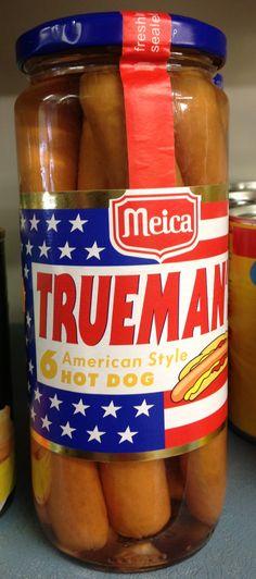 American Hot Dogs sold in a Jar! #hotdogs #london #american #uk