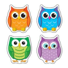 These colorful owl die-cut shape stickers are acid free and lignin free. Includes 72 stickers in 12 assorted colors and owl shapes. Grades PK + / Ages 4 +