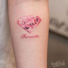 Pretty Pink Diamond Tattoo | Venice Tattoo Art Designs