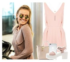 """""""LAX airport with Perrie"""" by anavi-magdalene ❤ liked on Polyvore featuring Topshop, Sophie Hulme, even&odd and Ali Moosally"""