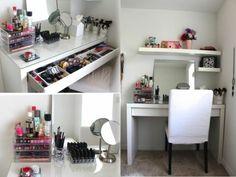 idée rangement make-up, meuble rangement maquillage