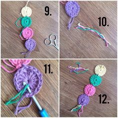 A great quick project for beginners but also advanced crocheters, the circle bookmark uses up scraps of wool as well...