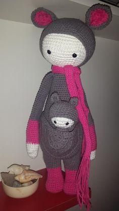 KIRA the kangaroo made by Maria Eugenia P. / crochet pattern by lalylala