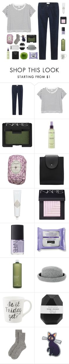 """erverything is gray"" by burning-citylights ❤ liked on Polyvore featuring Toast, Monki, NARS Cosmetics, Michael Todd True Organics, Fresh, Aveda, Warehouse, Pelle, Johnstons of Elgin and Luna"