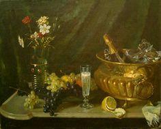 А. Гирв. Натюрморт с шампанским. 1899
