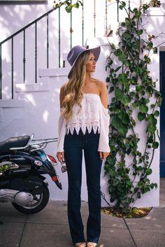 white lace fashion top blouse