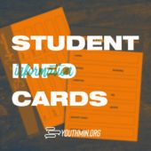 student ministry guest info card download Student Info, Youth Ministry, New Students, How To Plan, Cards, Freshman Year, Maps, Student Information