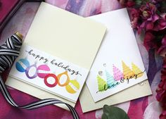 WPlus9- STAMPtember®-Holiday Trimmings // Christmas cards // Laura Bassen