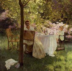 Gaston La Touche - Peonies (1889)