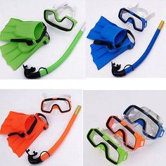 Swimming Pool Diving Equipment Anti Fog Goggles Scuba Mask Snorkel Glasses Set - sports.goshoppins...