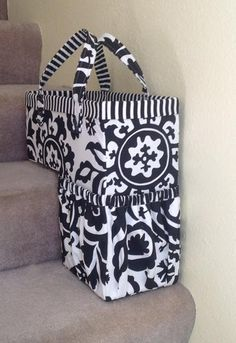 Stair way bag fits onto step and to carry upstairs