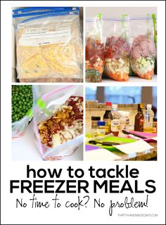 How to tackle freezer meals www.thirtyhandmadedays.com