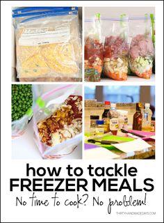 How to tackle freezer meals www.thirtyhandmadedays.com