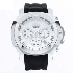 Invicta 22275 Men's I-Force White MOP Dial Black Silicone Strap Chronograph Dive