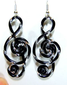 Treble+Clef+Dangle+Earrings+by+melissawoods+on+Etsy,+$15.00