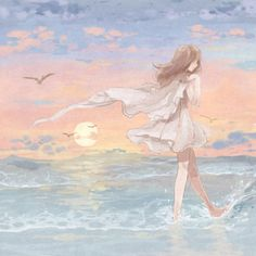 Find images and videos about art, anime and sun on We Heart It - the app to get lost in what you love. Anime Art Girl, Manga Girl, Anime Girls, Manga Anime, Anime Scenery, Cute Drawings, Cute Art, Illustration Art, Sketches