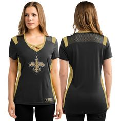"New Orleans Saints G-III ""Pass Rush"" Mesh Ladies' Top 
