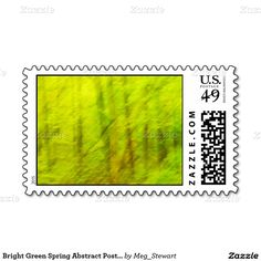 Bright Green Spring Abstract Postage Stamps