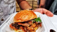 Soft-Shell Crab Burger by Hammer & Tong, Night Market, Melbourne Crab Burger, Soft Shell Crab, Hamburger, Melbourne, Night, Ethnic Recipes, Food, Essen, Burgers