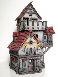 Warhammer Haunted Tower 1 (Converted Fortified Manor House… | Flickr Fantasy City, Fantasy House, Fantasy Places, Medieval Houses, Medieval Town, Medieval Fantasy, Idea Portal, Sims 4 House Building, Hirst Arts