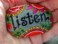 Hey, I found this really awesome Etsy listing at https://www.etsy.com/listing/164779600/listen-with-your-heart-painted-rock