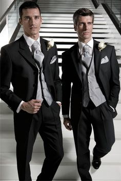 groom and groomsmen suits black and grey - Google Search