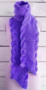 Диагональный шарф с косами