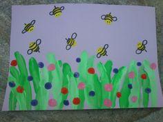 * Vingerverf: bijtjes zijn vingerafdrukken!