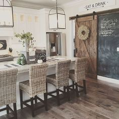 58 Awesome Modern Farmhouse Style Kitchen Makeover Decor Ideas