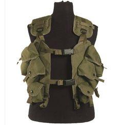 Mil-Tec US Weste Load Bearing, oliv / mehr Infos auf: www.Guntia-Militaria-Shop.de