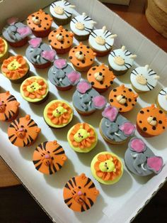 Cupcake tema safari