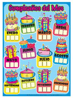 cartel disciplina infantil - Buscar con Google Classroom Birthday, Birthday Board, Classroom Decor, Educational Activities, Preschool Activities, Birthday Charts, Teachers Corner, School Items, Sunday School