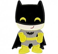 Machine Applique Bat Kid Design