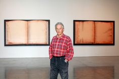 "The artist Ed Ruscha at the Gagosian Gallery in Chelsea: ""I love books, the physical objects of them."" He paints and makes them."