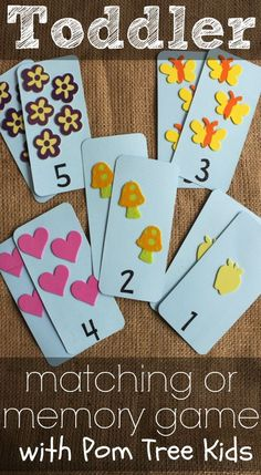 toddler memory or matching game using pomtreekids foam stickers great activity on the go - Colour Game For Toddlers