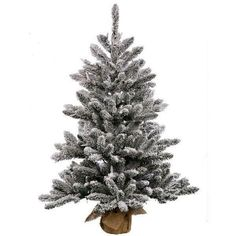 Shop for Vickerman White/Green Plastic Flocked Anoka Pine Artificial Christmas Tree with 50 Warm White LED Lights. Get free delivery On EVERYTHING* Overstock - Your Online Christmas Store! Get in rewards with Club O! White Artificial Christmas Tree, Pine Christmas Tree, Artificial Tree, Christmas Store, Pine Tree, Christmas Holiday, White Christmas, Holiday Ideas, Xmas Trees