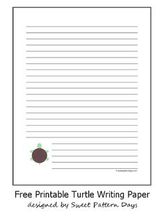 High Quality Printable Turtle Writing Paper